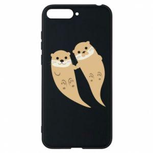 Etui na Huawei Y6 2018 Romantic Otters