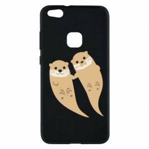 Etui na Huawei P10 Lite Romantic Otters