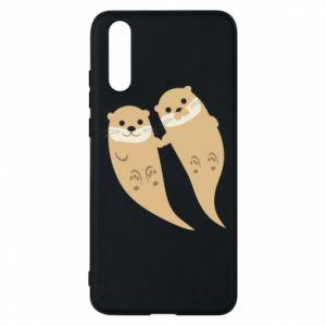 Etui na Huawei P20 Romantic Otters