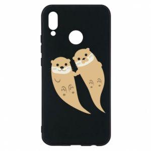 Etui na Huawei P20 Lite Romantic Otters