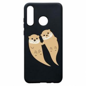 Etui na Huawei P30 Lite Romantic Otters