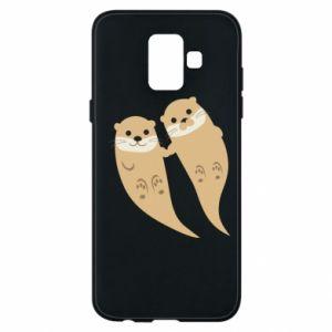Etui na Samsung A6 2018 Romantic Otters