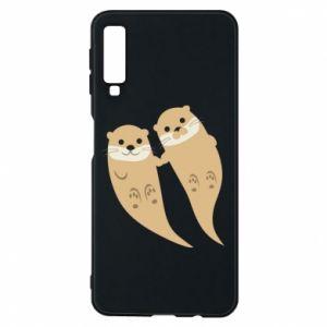 Etui na Samsung A7 2018 Romantic Otters