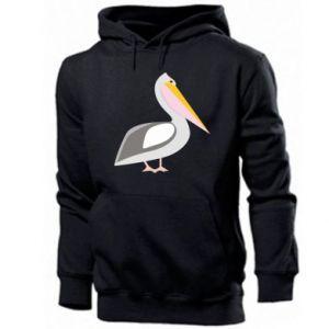 Men's hoodie Romantic Pelican