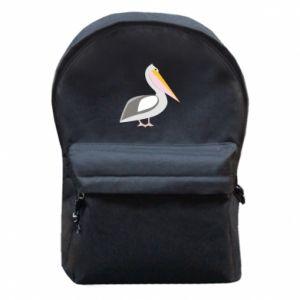 Plecak z przednią kieszenią Romantyczny Pelikan