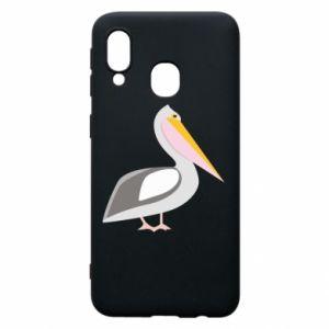 Etui na Samsung A40 Romantyczny Pelikan