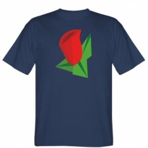 T-shirt Rose flower abstraction