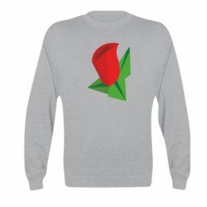 Bluza dziecięca Rose flower abstraction