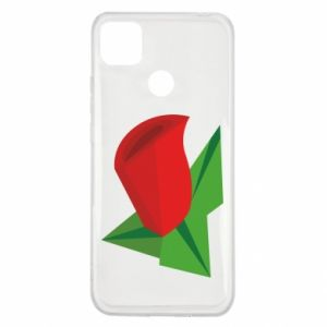 Etui na Xiaomi Redmi 9c Rose flower abstraction