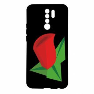 Etui na Xiaomi Redmi 9 Rose flower abstraction