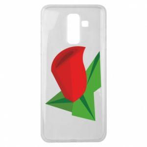 Etui na Samsung J8 2018 Rose flower abstraction