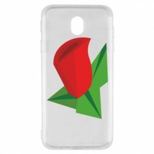 Etui na Samsung J7 2017 Rose flower abstraction