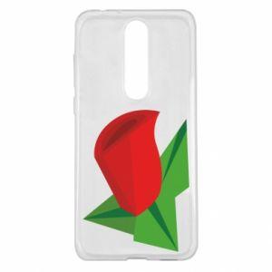 Etui na Nokia 5.1 Plus Rose flower abstraction