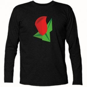 Long Sleeve T-shirt Rose flower abstraction