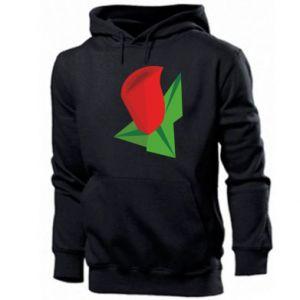 Męska bluza z kapturem Rose flower abstraction