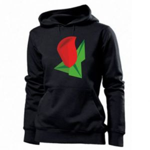 Women's hoodies Rose flower abstraction