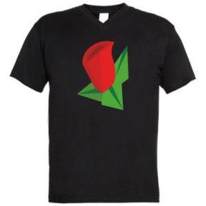 Men's V-neck t-shirt Rose flower abstraction