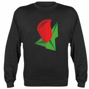 Sweatshirt Rose flower abstraction