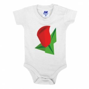 Baby bodysuit Rose flower abstraction