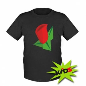 Dziecięcy T-shirt Rose flower abstraction