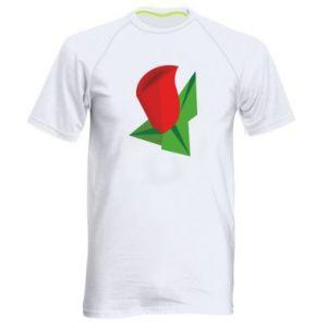 Koszulka sportowa męska Rose flower abstraction