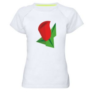 Women's sports t-shirt Rose flower abstraction