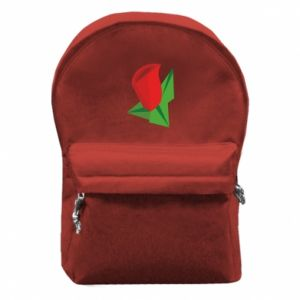 Backpack with front pocket Rose flower abstraction - PrintSalon