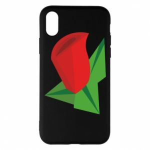 Etui na iPhone X/Xs Rose flower abstraction