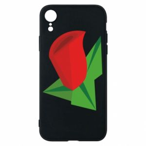 Etui na iPhone XR Rose flower abstraction
