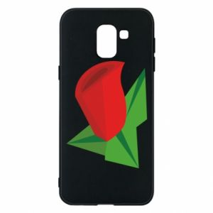 Etui na Samsung J6 Rose flower abstraction