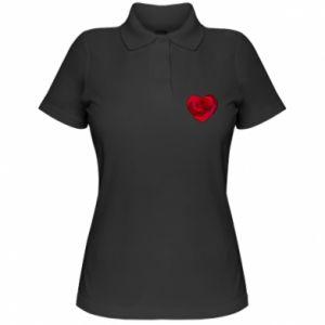 Women's Polo shirt Rose heart