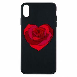 Etui na iPhone Xs Max Rose heart