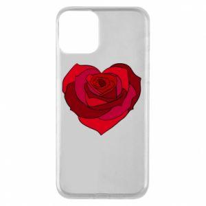 Etui na iPhone 11 Rose heart