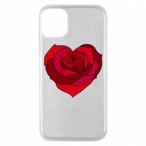 Etui na iPhone 11 Pro Rose heart