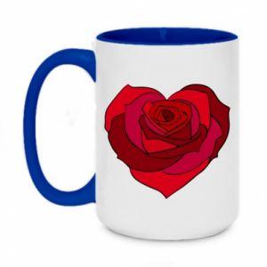 Kubek dwukolorowy 450ml Rose heart