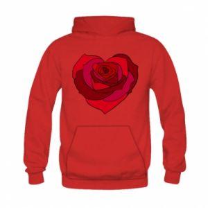 Bluza z kapturem dziecięca Rose heart