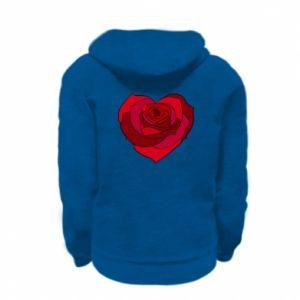 Bluza na zamek dziecięca Rose heart