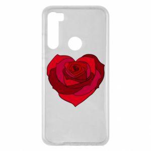 Etui na Xiaomi Redmi Note 8 Rose heart