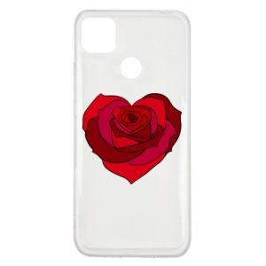 Etui na Xiaomi Redmi 9c Rose heart