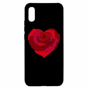 Etui na Xiaomi Redmi 9a Rose heart