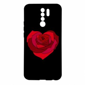 Etui na Xiaomi Redmi 9 Rose heart