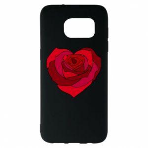 Etui na Samsung S7 EDGE Rose heart