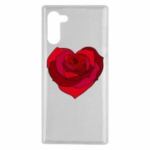 Etui na Samsung Note 10 Rose heart