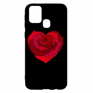 Etui na Samsung M31 Rose heart