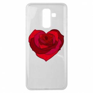 Etui na Samsung J8 2018 Rose heart