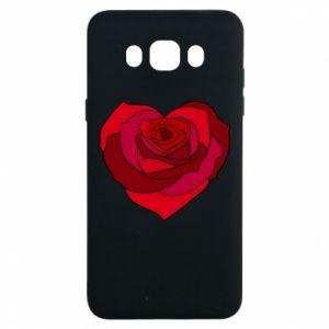 Etui na Samsung J7 2016 Rose heart