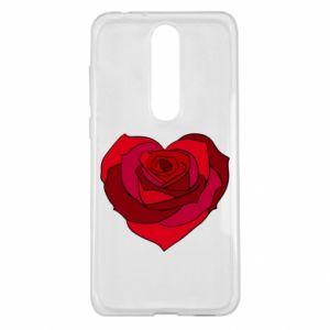 Etui na Nokia 5.1 Plus Rose heart