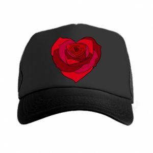 Czapka trucker Rose heart