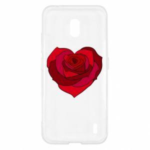 Etui na Nokia 2.2 Rose heart
