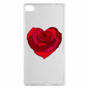 Etui na Huawei P8 Rose heart